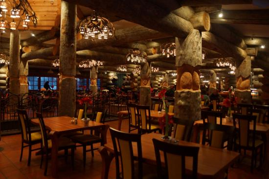 Rustic restaurant it s not fancy food but provides