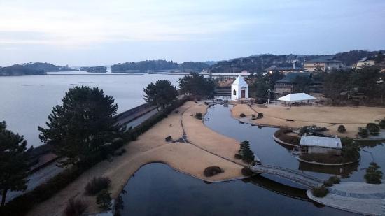Matsushima Ichinobo : Hotelgelände am Morgen