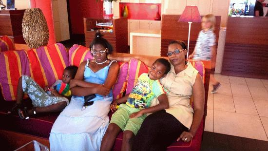 Kyriad Prestige Toulon - L S S M - Centre Port : Just relaxing with my family in the reception. Xxx