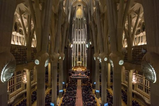 Interior de la basilica picture of basilica of the for La sagrada familia inside