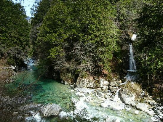 阿寺渓谷は 川底までくっきりと見える透明度&エメラルドグリーン色に輝く水✨とても綺麗で神秘的でした✨