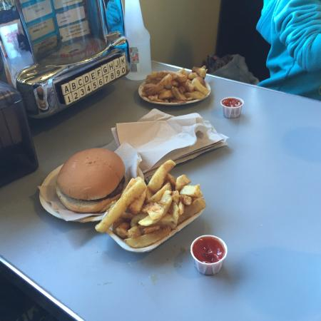 Hutch's Dingley Dell: kids burger and kids pogo