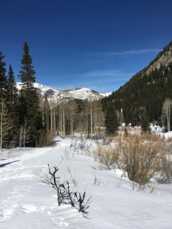 North Salt Lake, UT: Mid-March hike with wife & daughters. Low to moderate difficulty. Snow packed slippery trails. s