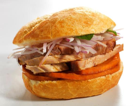 PAN CON CHICHARRON - Picture of Off The Hook Bar And Grill ...