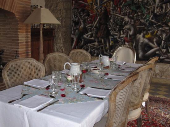 Camp Biche : Dinner in the grand selon