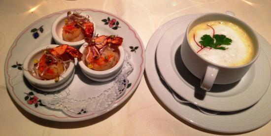 Hotel Madlochblick: Homemade soup with prawns