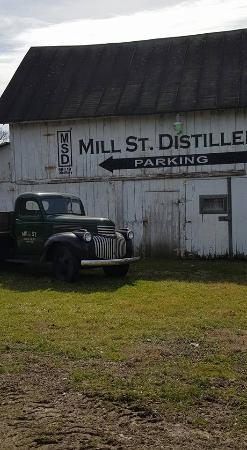 Utica, OH: Mill St. Distillery - Entrance