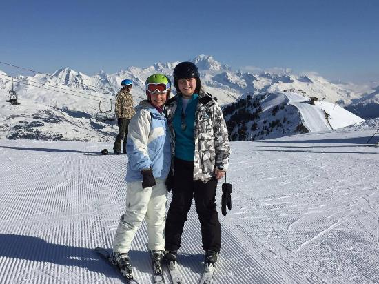 Oxygene Ski School La Plagne: Lisa and Jay in Belle Plagne on a lesson with Gui, Oxygene ...