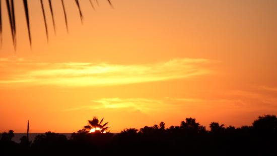 Hacienda Todos Los Santos: Sunset from the balcony of the San Francisco suite - the beach is about a 30 minute walk from to