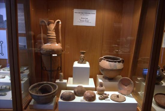 Karatepe : Inside the museum are remains found during excavation.