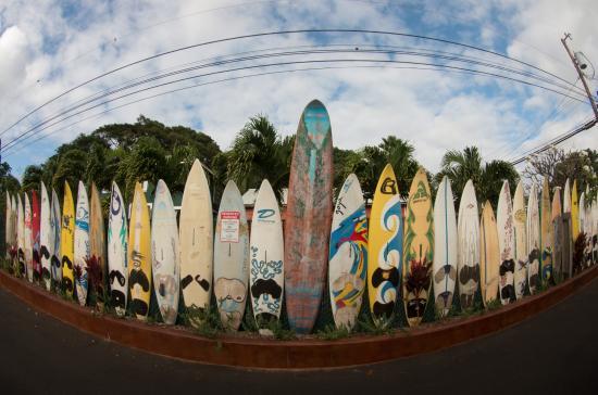 Paia, Hawái: Surfboard fence