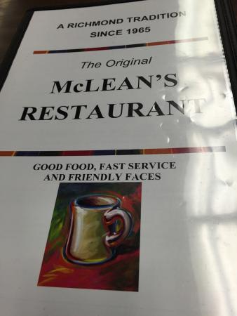 McLeans Restaurant: Sunday morning early is already crowded.