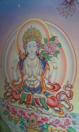 Tibetan Mural Inside the stupa (Dharma Center, Paia)