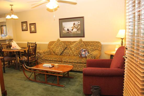 living room area the sofa turns into another bed cool coffee table rh tripadvisor com