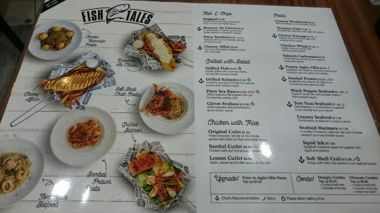 Fish tales singapore orchard road restaurant reviews for Fish tales menu