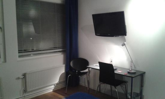 desk and tv picture of connect hotel city stockholm tripadvisor rh tripadvisor ca