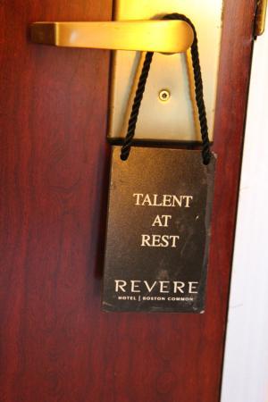Revere Hotel Boston Common: Talent at Rest