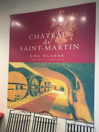 Taradeau, França: Poster of Ch. St Martin.