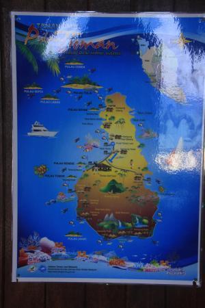 Map of Tioman