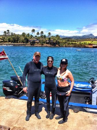 Kauai Down Under Dive Team: all set!