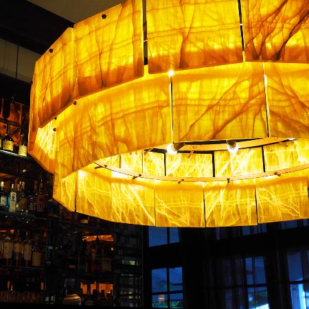 Onyx chandelier picture of essensia restaurant lounge miami essensia restaurant lounge onyx chandelier aloadofball