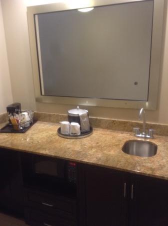 Hampton Inn & Suites Tampa Northwest Oldsmar : kitchenette