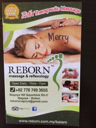 Photo1 Jpg Picture Of Reborn Massage Amp Reflexology Batam