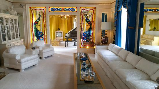Inside the mansion picture of graceland memphis for House inside photos