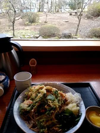 Yukiteikawashima : お蕎麦を食べながらお庭が見られます。