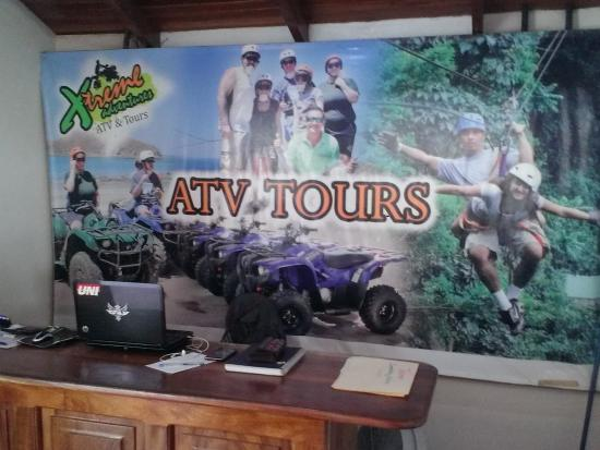The Congo Trail Canopy Tour: Office to purchase ATV tour all payments made at the snack bar/souvenir shop at Congo Trail Cano