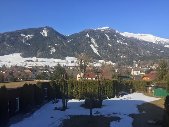 Mauterndorf, Austria: View from hotel Karla 17.3.2016