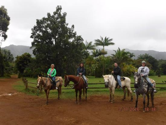 Kilauea, HI: Chris offered to take a group picture, this was taken at the end of our ride