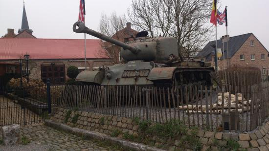 Borlo, Belgium: WW II tank on the grounds