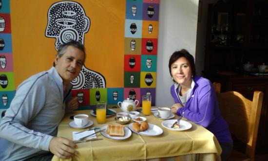 Hotel posada Manuel de lobo: Hermoso lugar para desayunar!