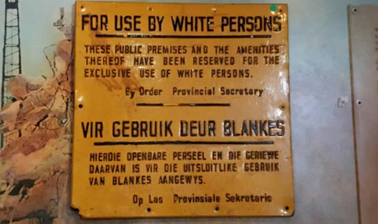 Inkululeko Freedom Tours : old apartheid sign