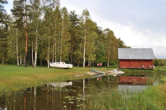 Viljandi County, Estonia: View from Veldemani Puhkemaja (Võrtsjärv lake)