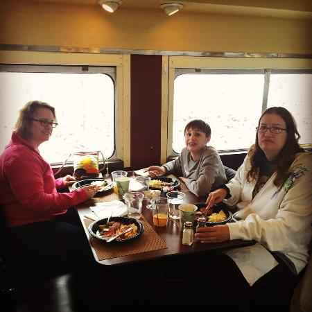 Peninsula, OH: Third Course in a Four Course Meal on the Cart 1 of Train