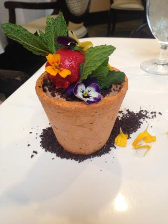 TripAdvisor & Flower Pot Dessert (entirely edible) - Picture of 1906 at ...