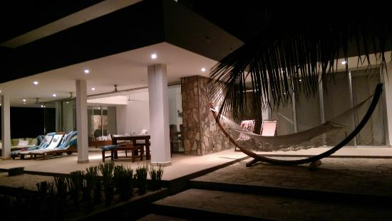 Tola, Nicaragua: Night view of house F1