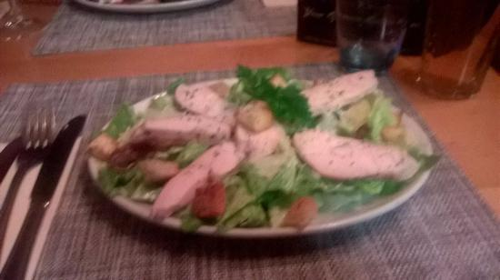 Fulbourn, UK: Chicken Caesar Salad