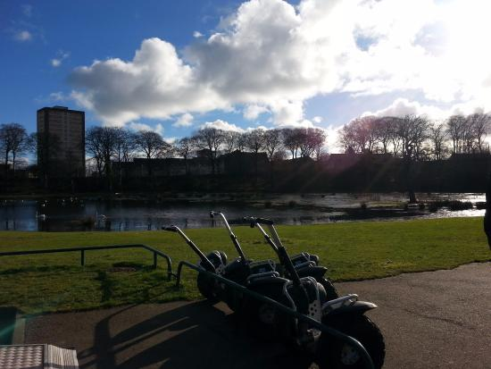 Maryculter, UK: A lovely day for Segway