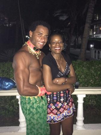 The Tropical at Lifestyle Holidays Vacation Resort: Julio, an entertainer and Gwen after a show