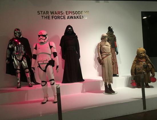 FIDM Museum and Galleries: The Force Awakens Principal character costumes