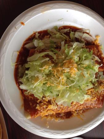 Payson, UT: Bean tostada & 2 enchiladas for $8.