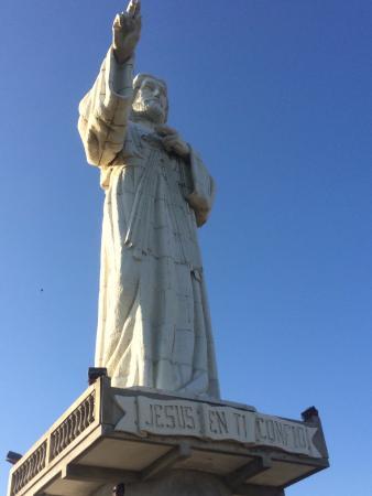 Casa Maderas Ecolodge: Cristo de la Misercordia statue.