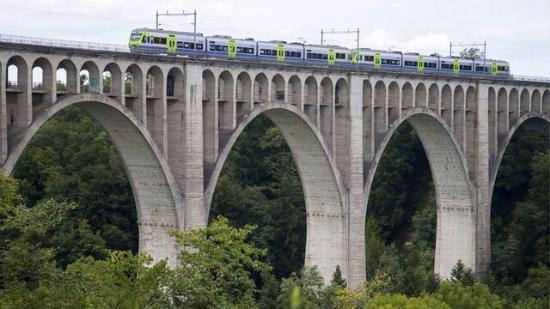 Fribourg, Suisse : Viaduc de Grandfey