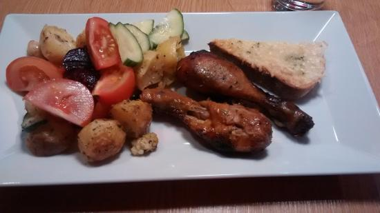 First Hotel Mortensen: Dinner: buffet type dinner. One main and several side dishes.
