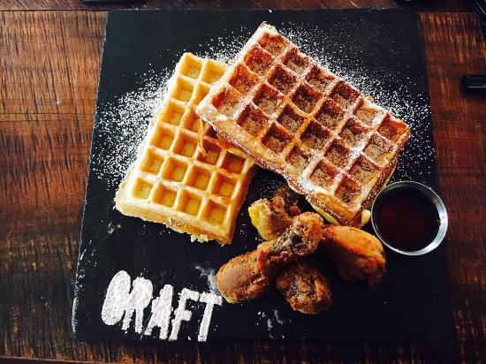 Fried Chicken Waffles Picture Of Craft Restaurant Johannesburg