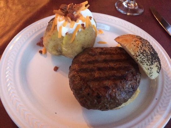 Higginsville, MO: Swiss garden burger