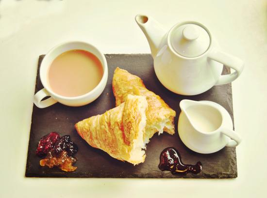 Good Morning Tea Butter Croissant Picture Of Coffee Tales
